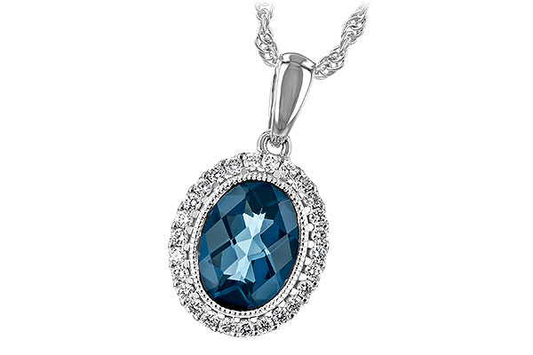 A189-37285: NECK 1.28 LONDON BLUE TOPAZ 1.41 TGW