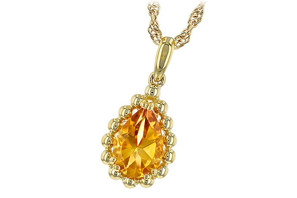 A189-40067: NECKLACE 1.06 CT CITRINE
