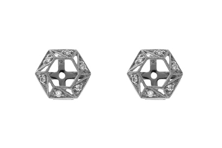 B000-35467: EARRING JACKETS .08 TW (FOR 0.50-1.00 CT TW STUDS)