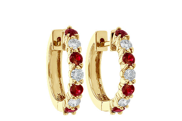 B001-20930: EARRINGS .64 RUBY 1.05 TGW