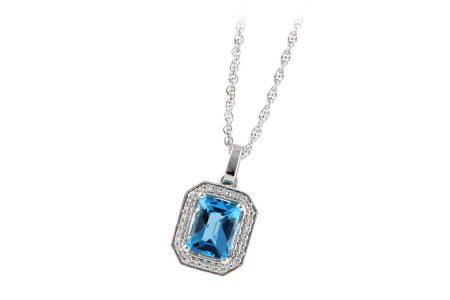 B187-57294: NECK 1.75 BLUE TOPAZ 1.86 TGW