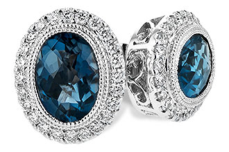 B189-37285: EARR 1.76 LONDON BLUE TOPAZ 2.01 TGW
