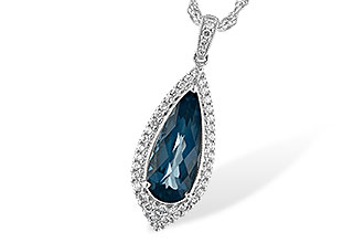 B189-39103: NECK 2.40 LONDON BLUE TOPAZ 2.65 TGW