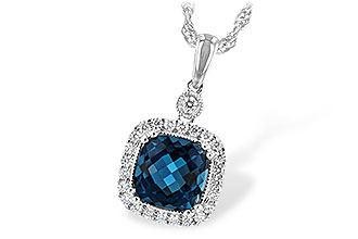 C189-37276: NECK 1.63 LONDON BLUE TOPAZ 1.80 TGW