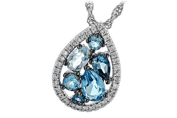 C189-42730: NECK 1.15 BLUE TOPAZ 1.30 TGW