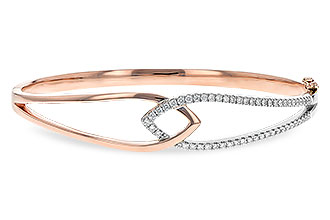 C189-43712: BANGLE BRACELET .50 TW (ROSE & WG)