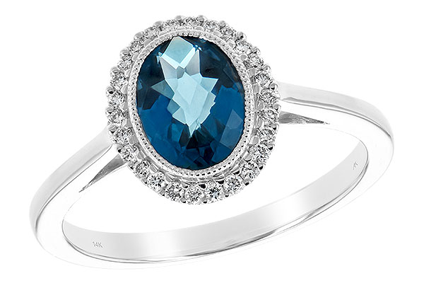 D189-37294: LDS RG 1.27 LONDON BLUE TOPAZ 1.42 TGW