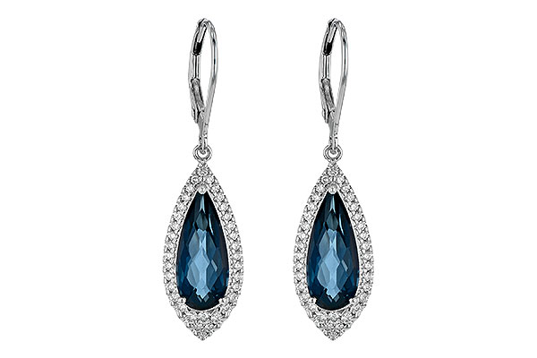 D190-28185: EARR 5.05 LONDON BLUE TOPAZ 5.42 TGW