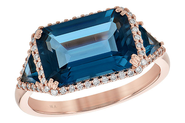 D190-29130: LDS RG 4.60 TW LONDON BLUE TOPAZ 4.82 TGW