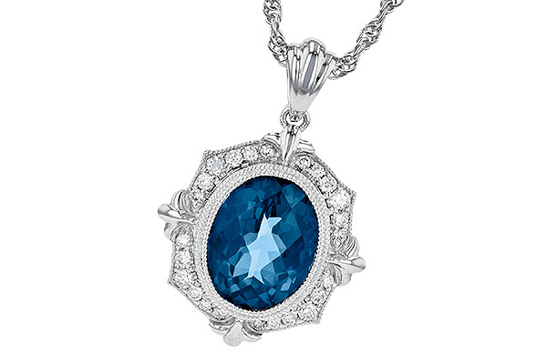 D190-34557: NECK 3.00 LONDON BLUE TOPAZ 3.16 TGW