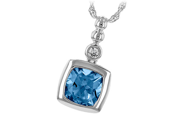 E189-40948: NECK 1.45 BLUE TOPAZ 1.49 TGW