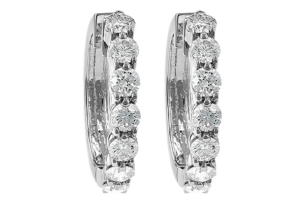F185-75475: EARRINGS 2 CT TW
