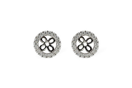 F187-58194: EARRING JACKETS .24 TW (FOR 0.75-1.00 CT TW STUDS)