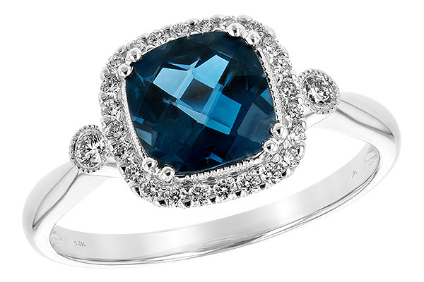 F189-37294: LDS RG 1.62 LONDON BLUE TOPAZ 1.78 TGW
