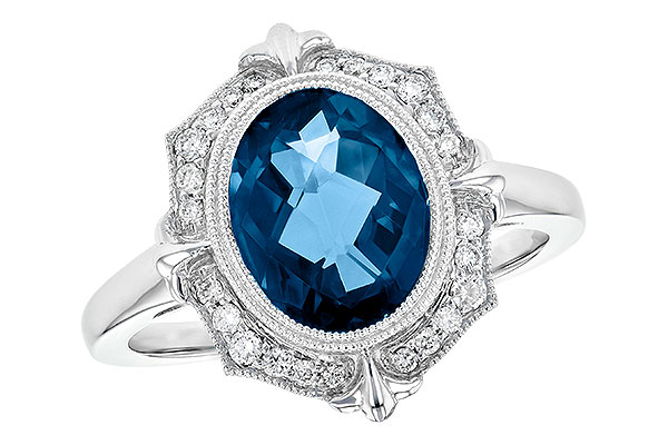 F190-34557: LDS RG 3.00 LONDON BLUE TOPAZ 3.16 TGW