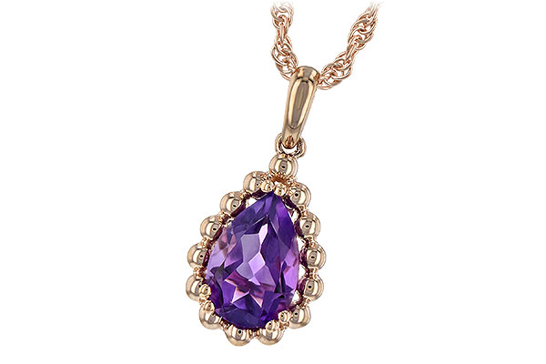 G189-40066: NECKLACE 1.06 CT AMETHYST