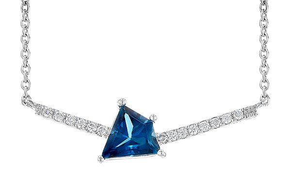 G190-33648: NECK .87 LONDON BLUE TOPAZ .95 TGW