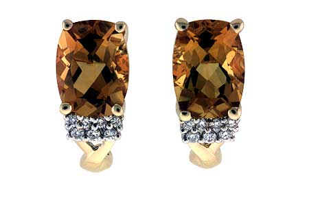 H000-35457: EARRINGS 2.30 CITRINE 2.38 TGW