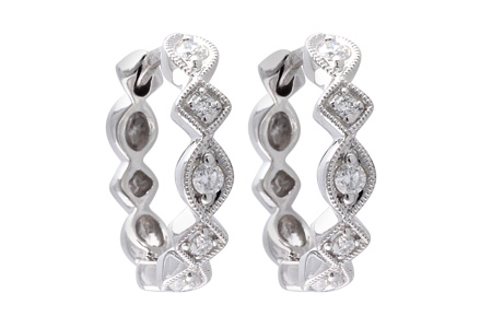 H001-18184: EARRINGS .22 TW