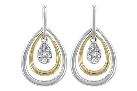 H183-94630: EARRINGS .06 TW