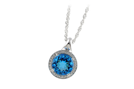 H187-57357: NECK 3.87 BLUE TOPAZ 4.01 TGW