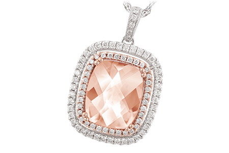 H188-49130: NECK 4.20 MORGANITE 4.66 TGW