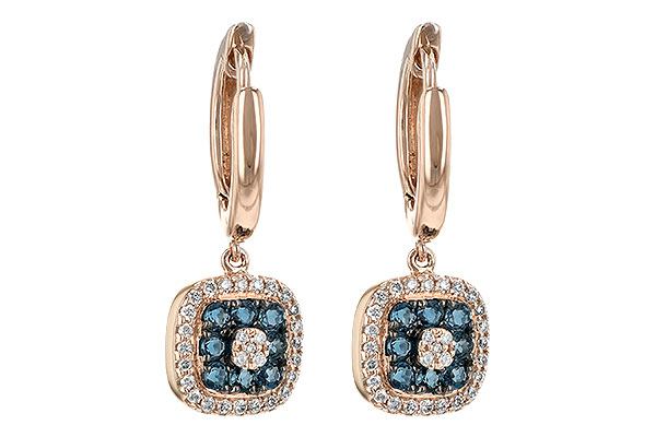 H189-38212: EARR .32 LONDON BLUE TOPAZ .46 TGW