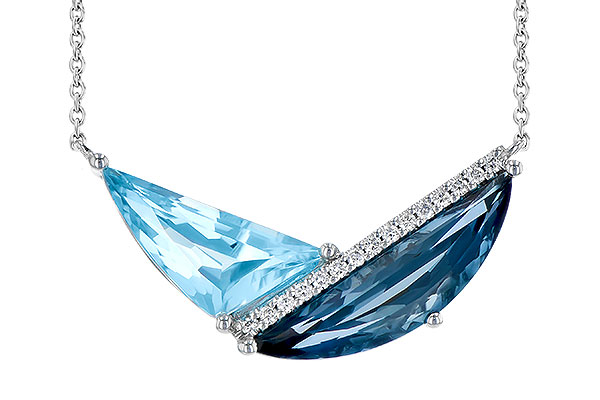 H273-02784: NECK 4.66 BLUE TOPAZ 4.75 TGW