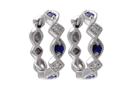 K001-18184: EARRINGS .20 SAPP .25 TGW