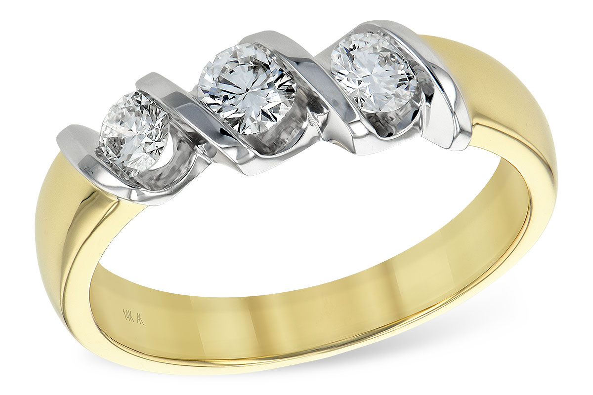 K093-06375: LDS WED RING .20 BR .50 TW