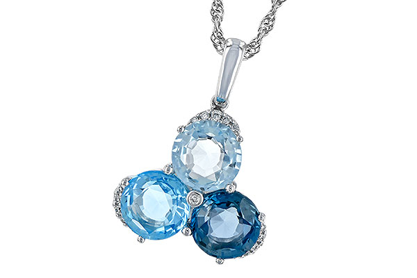 K189-37357: NECK 4.01 BLUE TOPAZ 4.06 TGW