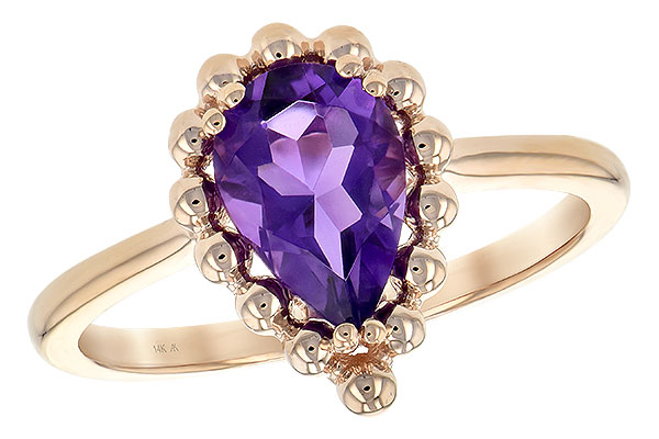 K189-40066: LDS RING 1.06 CT AMETHYST