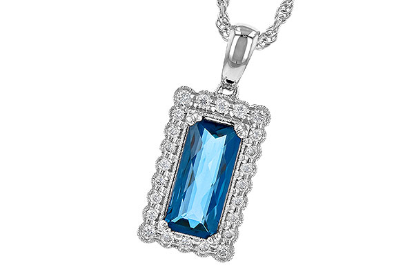 L190-34557: NECK 1.55 LONDON BLUE TOPAZ 1.70 TGW